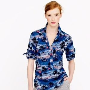 J.Crew Factory Hawaiian Sunset shirt